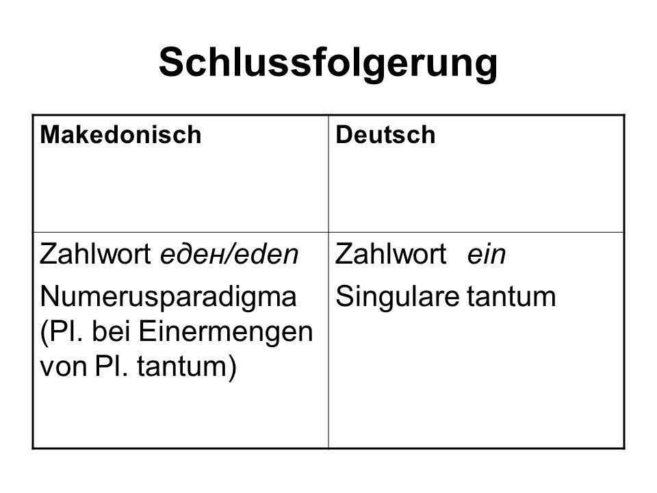 Schlussfolgerung Zahlwort еден/eden