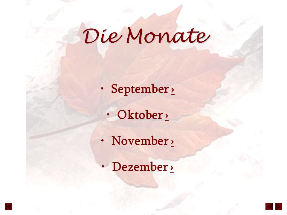 Die Monate September › Oktober › November › Dezember ›