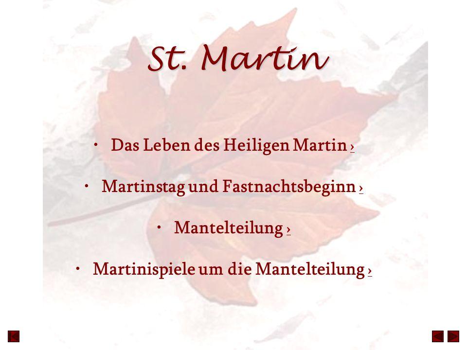 St. Martin Das Leben des Heiligen Martin ›