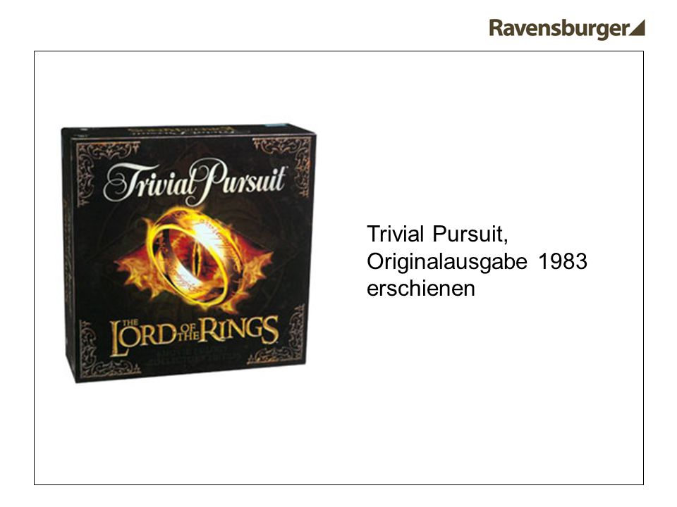 Trivial Pursuit, Originalausgabe 1983 erschienen
