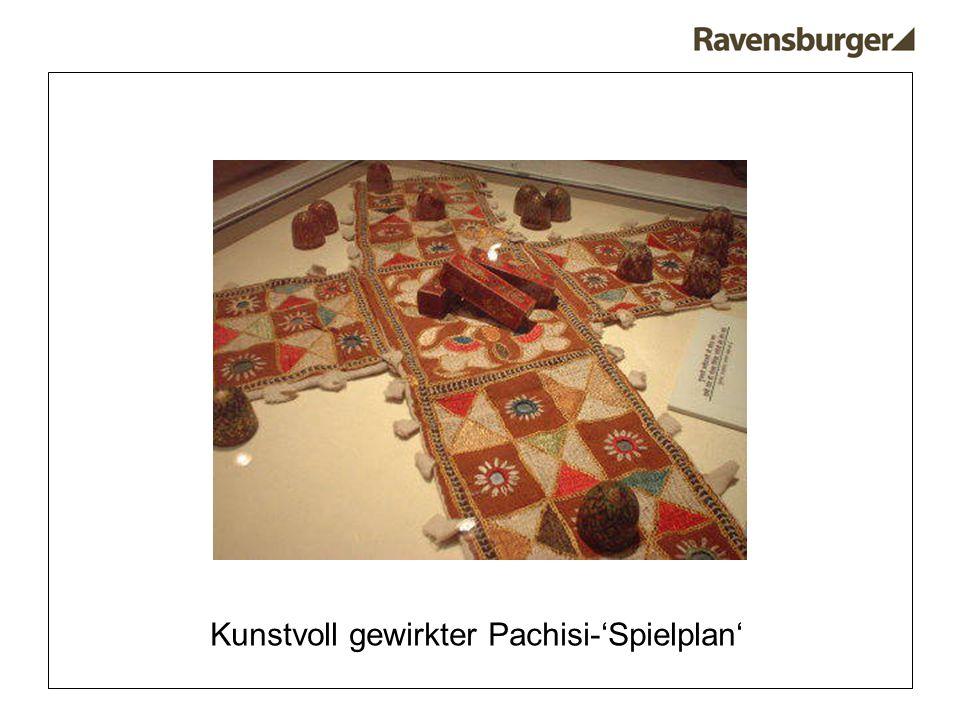 Kunstvoll gewirkter Pachisi-'Spielplan'