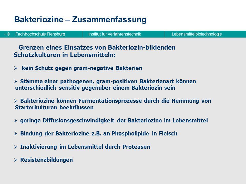 Bakteriozine – Zusammenfassung