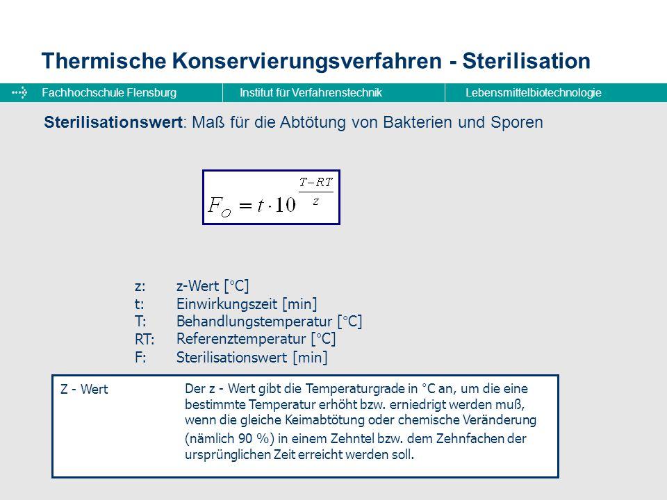 Thermische Konservierungsverfahren - Sterilisation