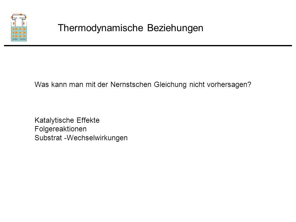 Thermodynamische Beziehungen