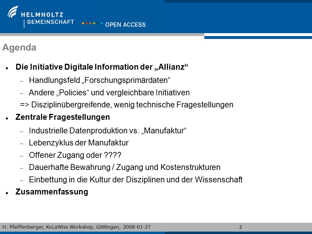 "Agenda Die Initiative Digitale Information der ""Allianz"
