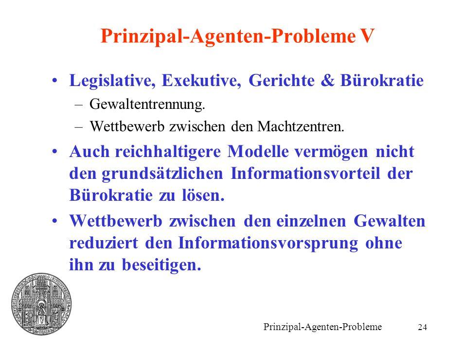 Prinzipal-Agenten-Probleme V