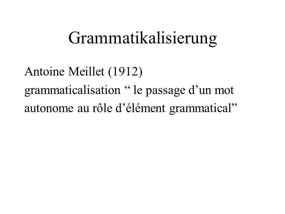 Grammatikalisierung Antoine Meillet (1912)