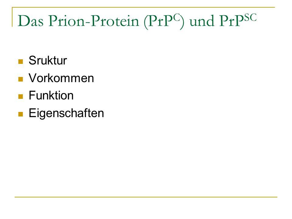 Das Prion-Protein (PrPC) und PrPSC