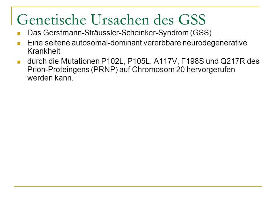 Genetische Ursachen des GSS