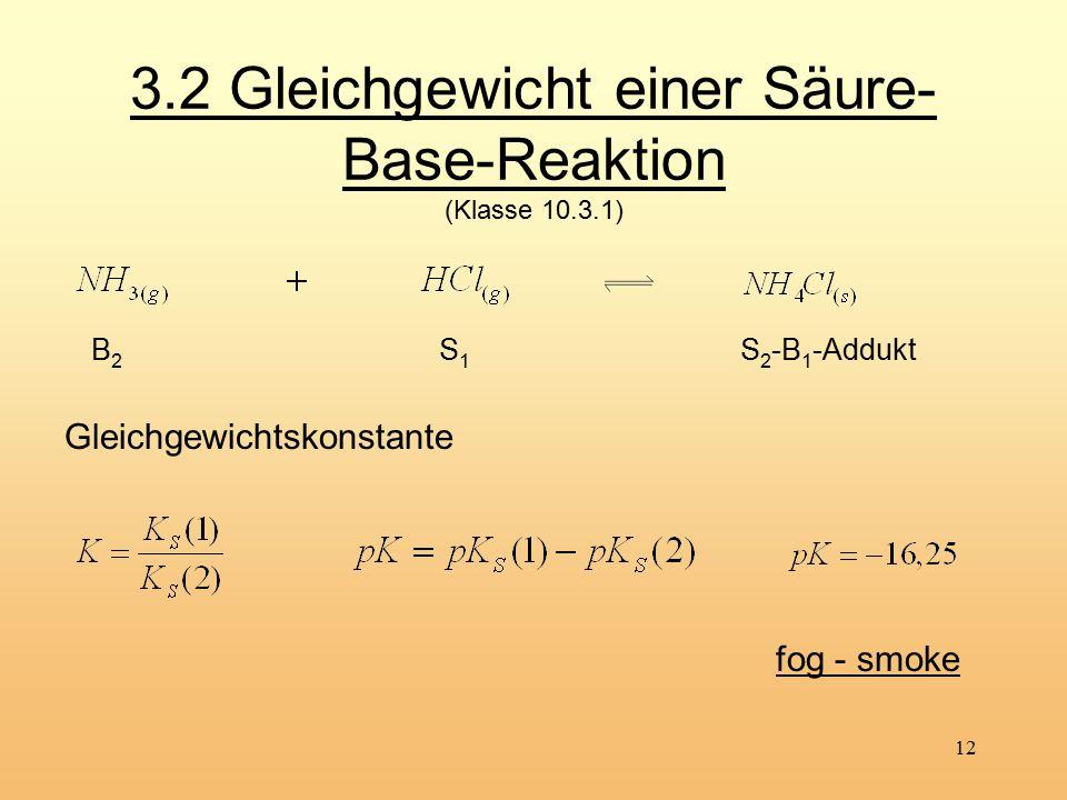 3.2 Gleichgewicht einer Säure-Base-Reaktion (Klasse 10.3.1)