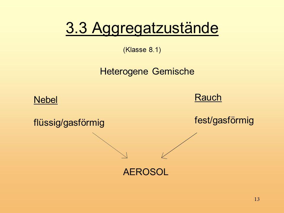 3.3 Aggregatzustände (Klasse 8.1)