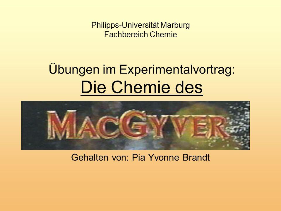 Übungen im Experimentalvortrag: Die Chemie des