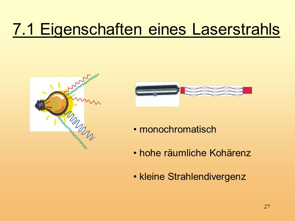 7.1 Eigenschaften eines Laserstrahls
