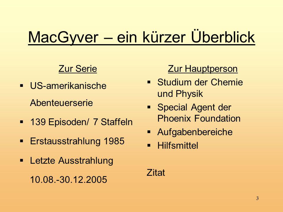 MacGyver – ein kürzer Überblick