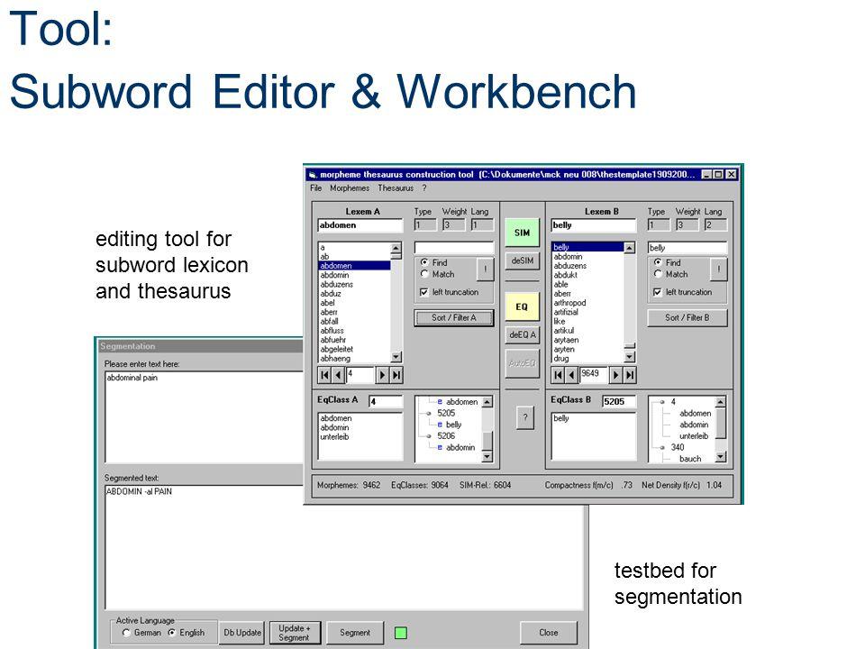 Tool: Subword Editor & Workbench