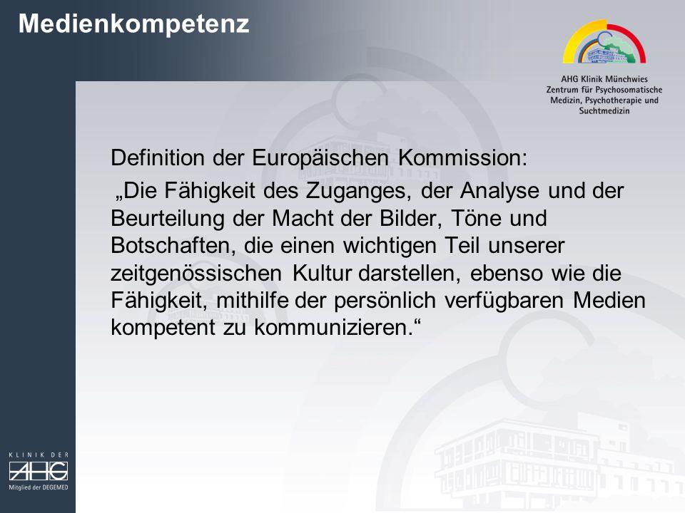 Medienkompetenz Definition der Europäischen Kommission: