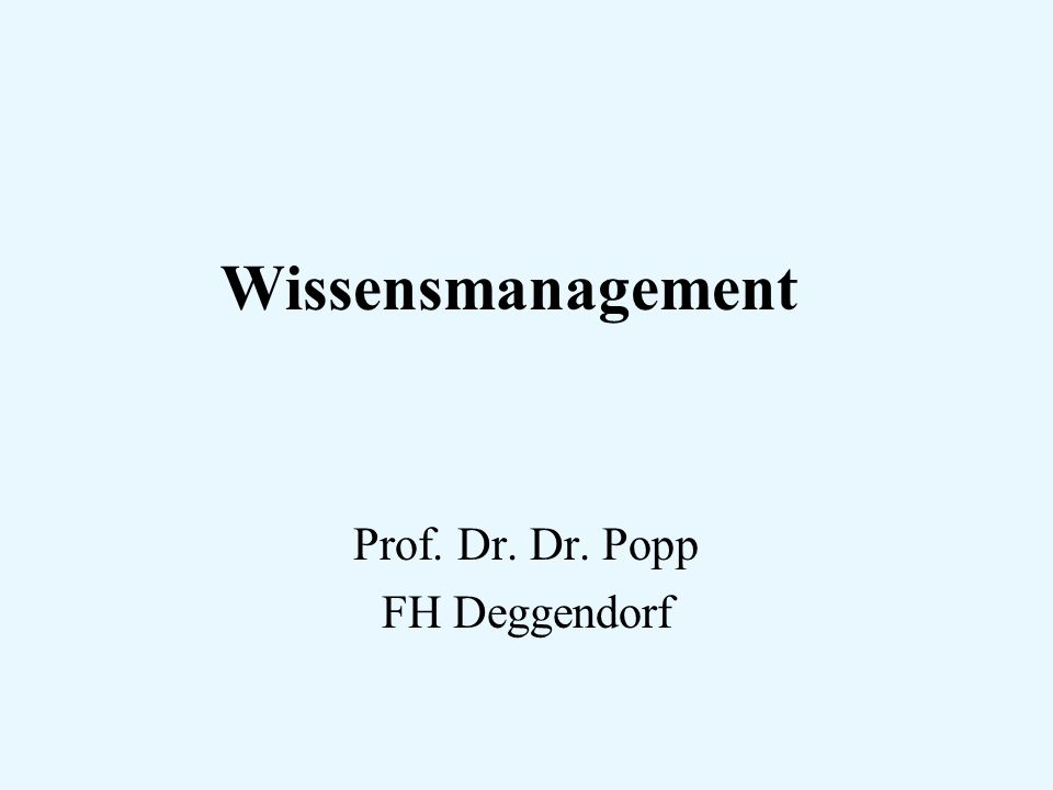 Prof. Dr. Dr. Popp FH Deggendorf