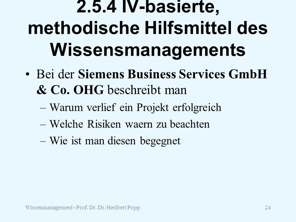 2.5.4 IV-basierte, methodische Hilfsmittel des Wissensmanagements