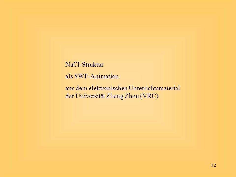 NaCl-Struktur als SWF-Animation.
