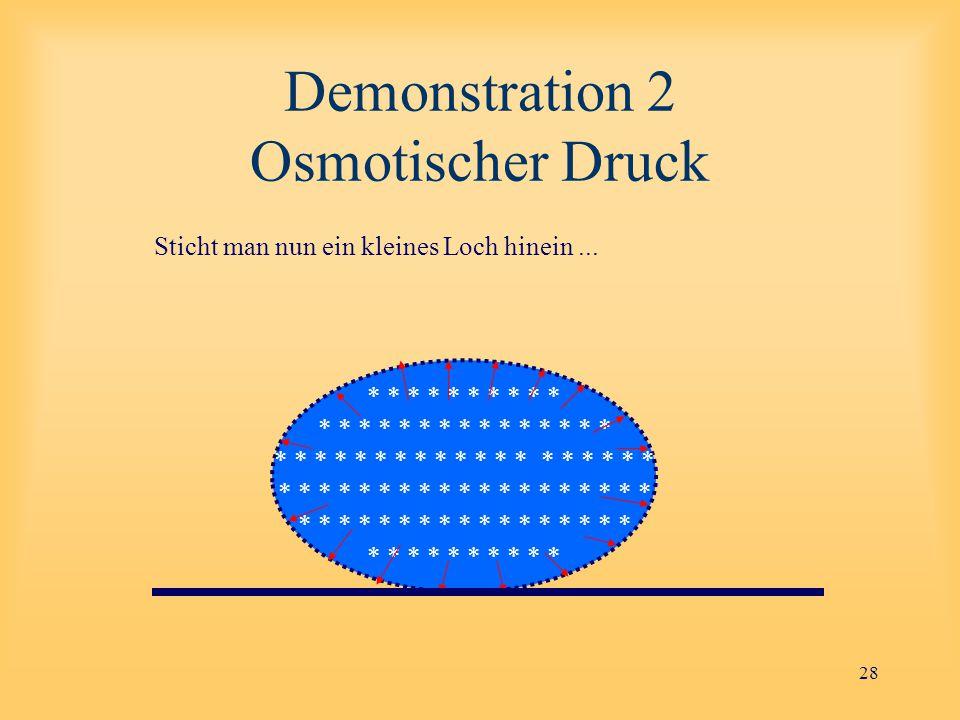 Demonstration 2 Osmotischer Druck