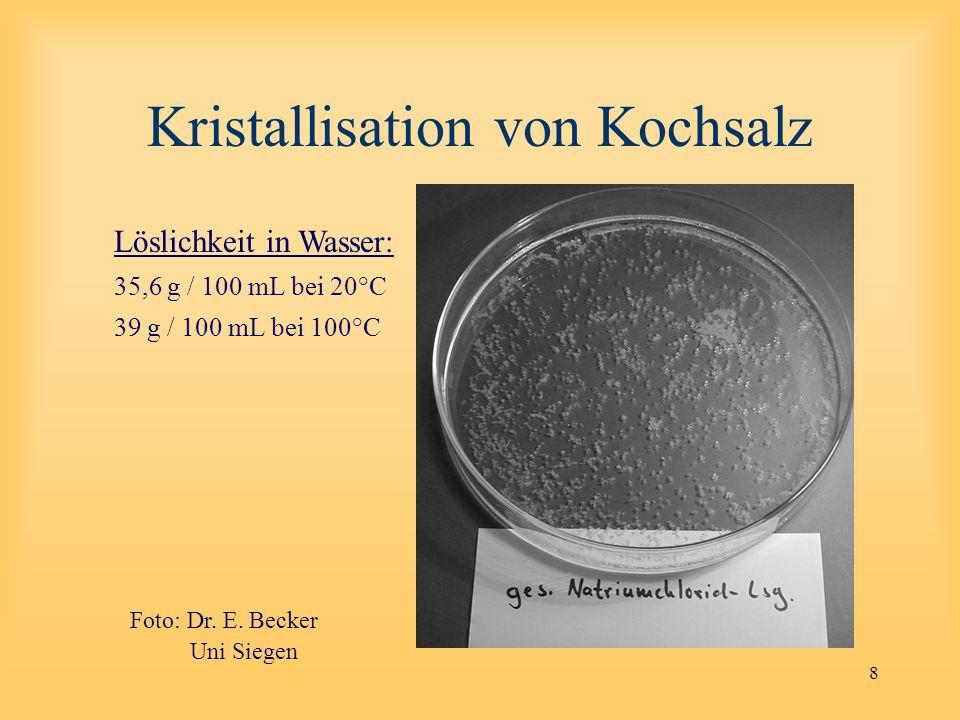 Kristallisation von Kochsalz