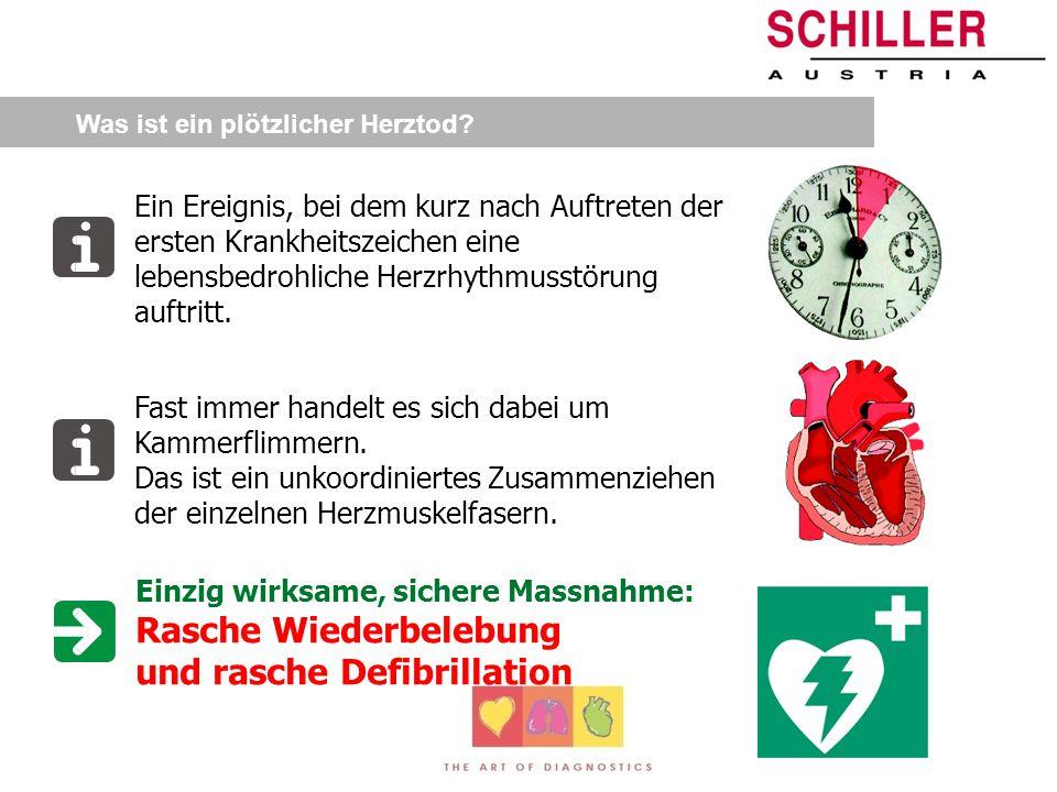 Rasche Wiederbelebung und rasche Defibrillation