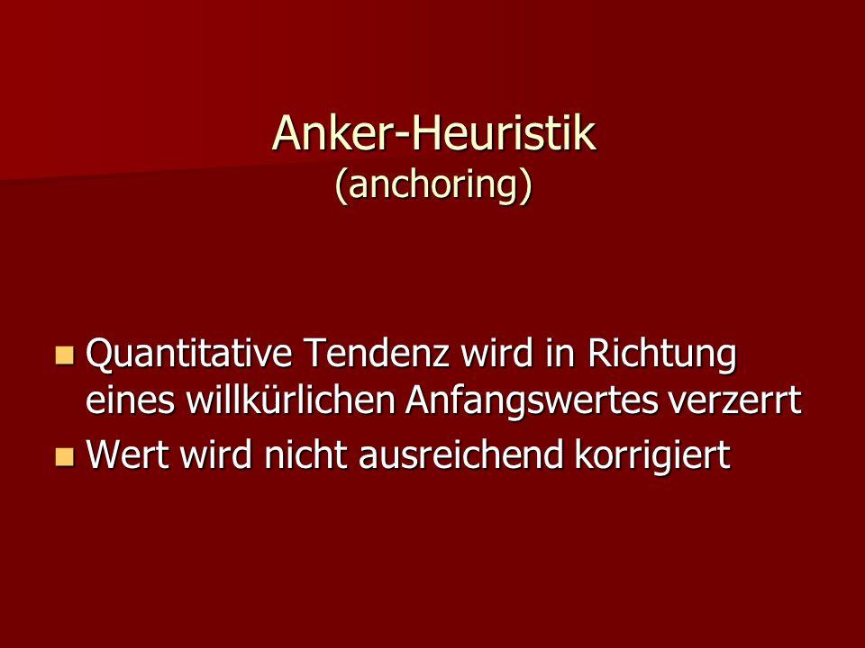 Anker-Heuristik (anchoring)