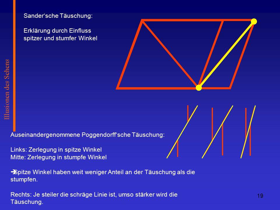 Illusionen des Sehens Sander'sche Täuschung: