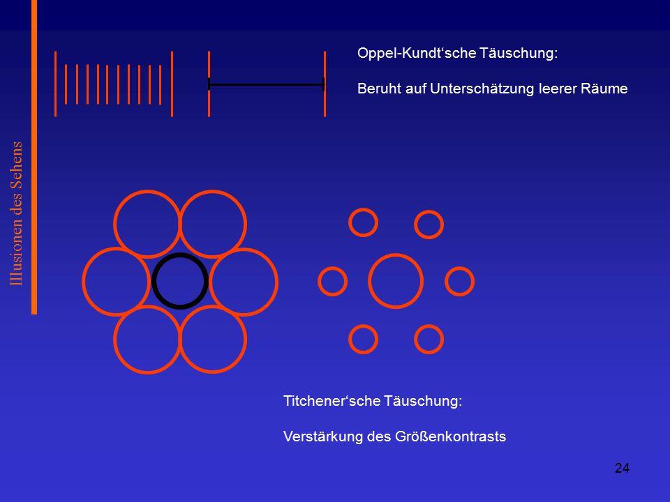 Illusionen des Sehens Oppel-Kundt'sche Täuschung: