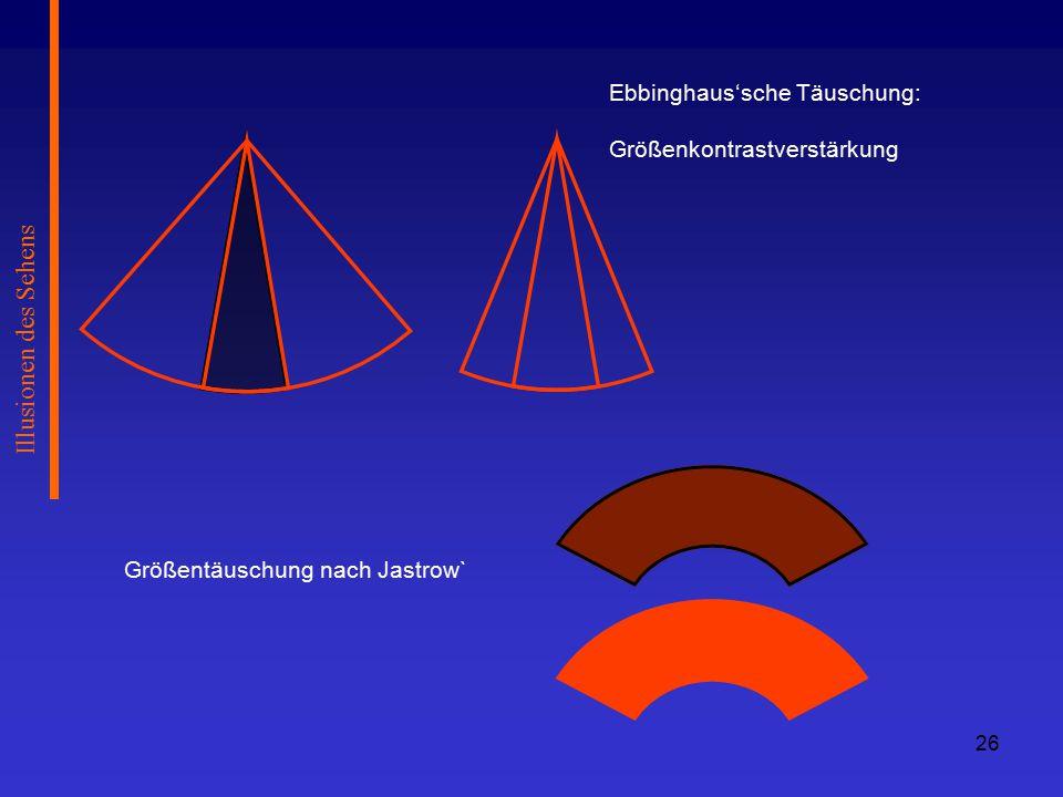 Illusionen des Sehens Ebbinghaus'sche Täuschung: