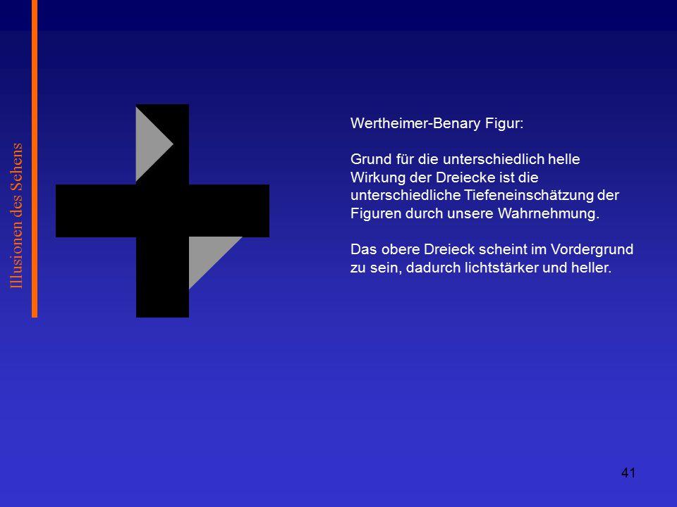 Illusionen des Sehens Wertheimer-Benary Figur: