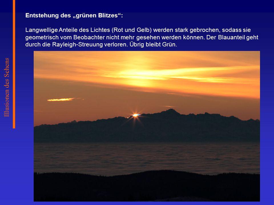 "Illusionen des Sehens Entstehung des ""grünen Blitzes :"