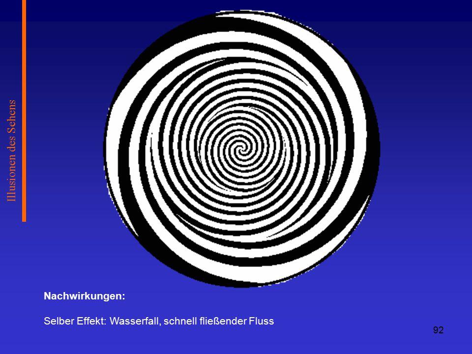 Illusionen des Sehens Nachwirkungen: