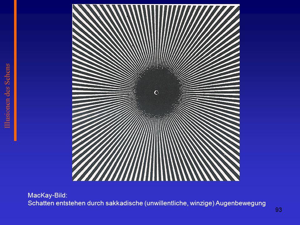 Illusionen des Sehens MacKay-Bild:
