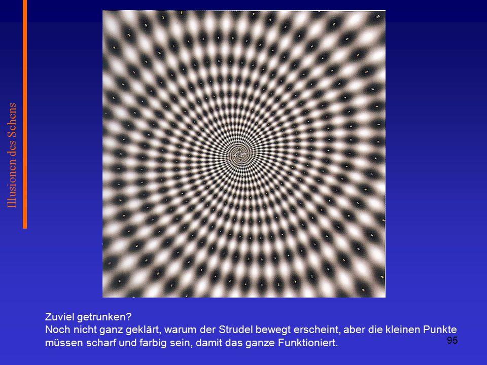 Illusionen des Sehens Zuviel getrunken