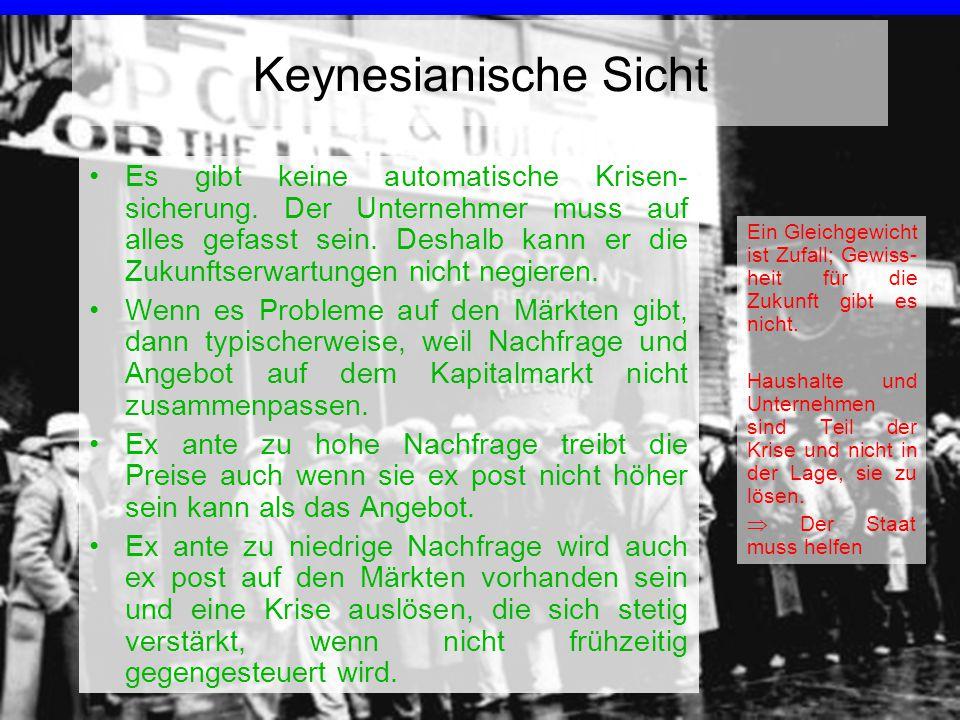 Keynesianische Sicht