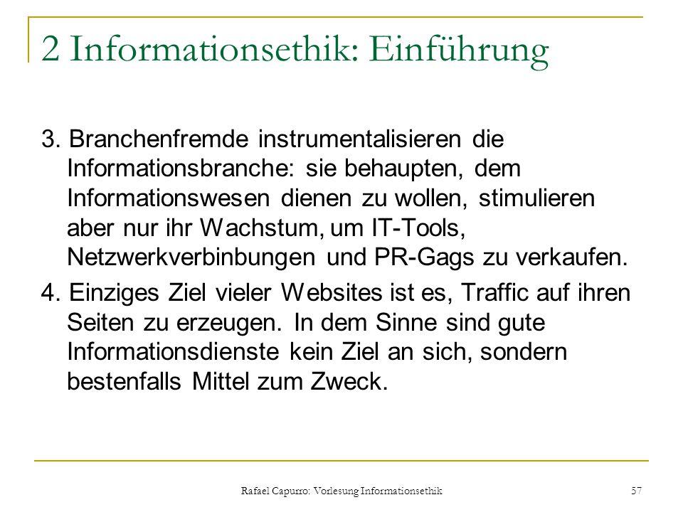 2 Informationsethik: Einführung