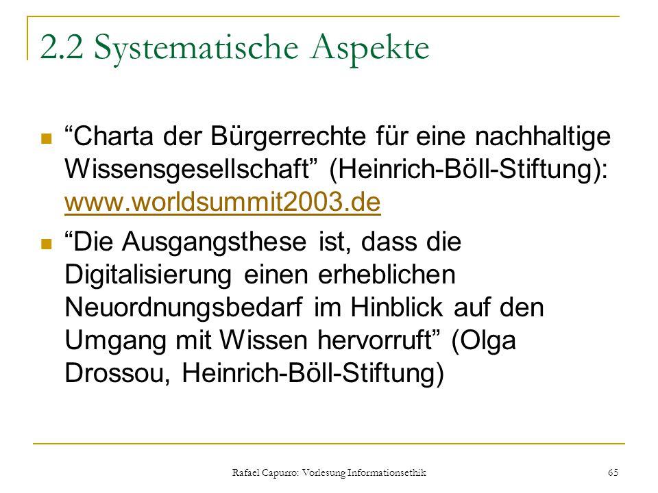 2.2 Systematische Aspekte
