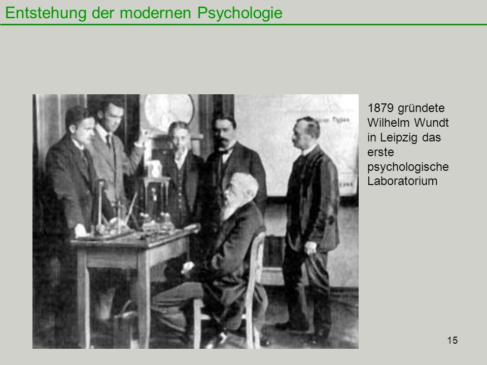 Entstehung der modernen Psychologie
