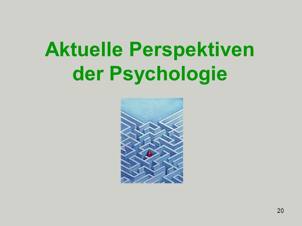 Aktuelle Perspektiven der Psychologie
