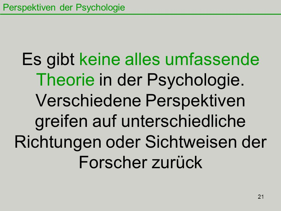 Perspektiven der Psychologie