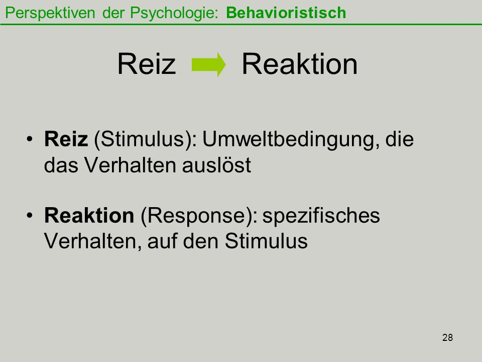 Perspektiven der Psychologie: Behavioristisch