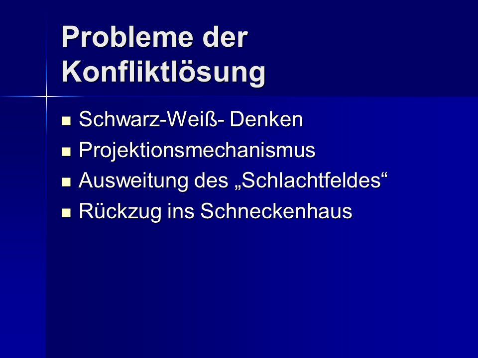 Probleme der Konfliktlösung