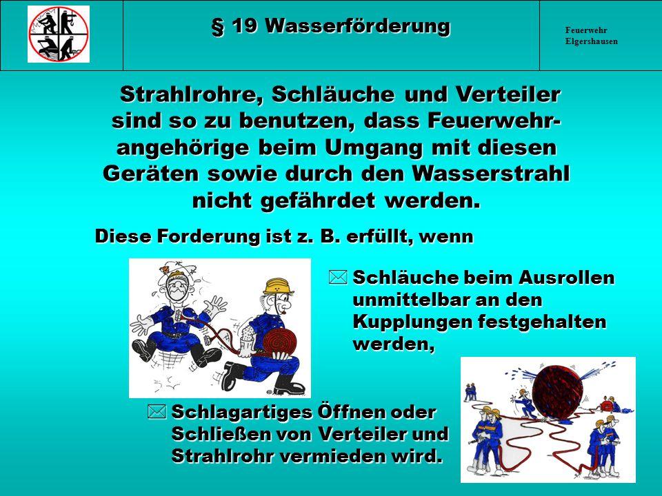 § 19 Wasserförderung Feuerwehr Elgershausen.