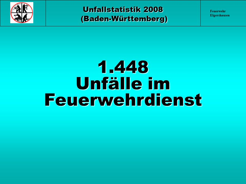 1.448 Unfälle im Feuerwehrdienst