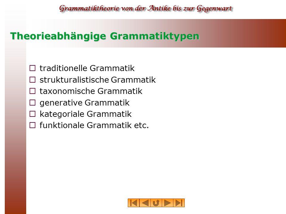 Theorieabhängige Grammatiktypen