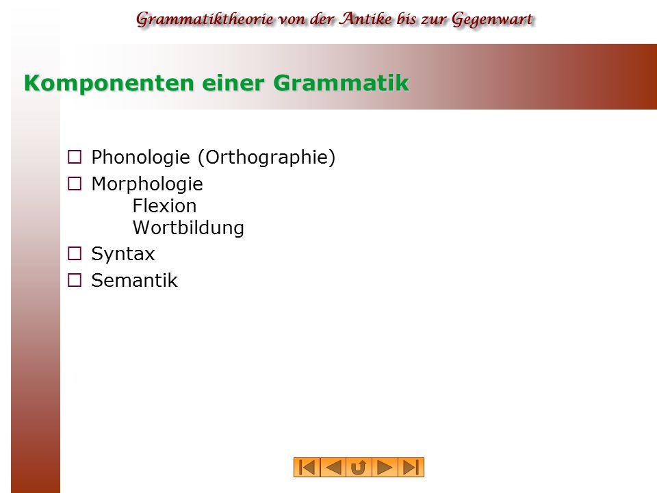 Komponenten einer Grammatik