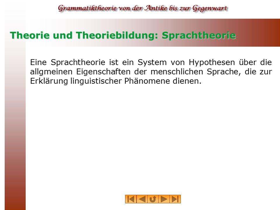Theorie und Theoriebildung: Sprachtheorie