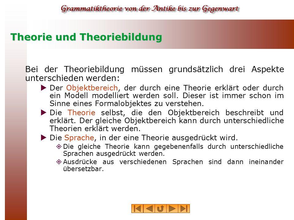 Theorie und Theoriebildung
