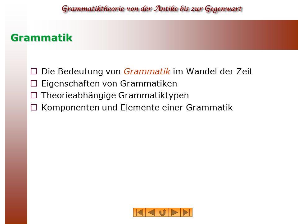 Grammatik Die Bedeutung von Grammatik im Wandel der Zeit